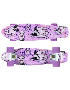 Deskorolka Print Fish Skateboards Dogs/White/Purple