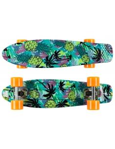 Deskorolka Fish Skateboards Print Pineapple/Silver/Orange