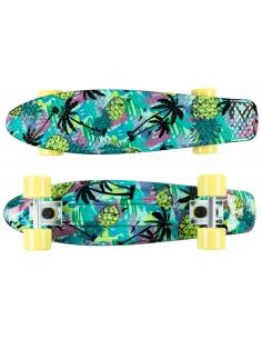 Deskorolka Fish Skateboards Print Pineapple/White/Sum-Yellow