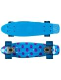 Deskorolka Fish Skateboards Print Dots/Silver/Transparent-Blue