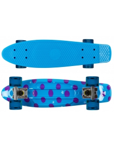 Deskorolka Fish Skateboards Print Dots/Silver/Transparent-Blue
