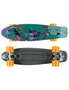 Deskorolka Fish Skateboards Print Fish/Silver/Orange
