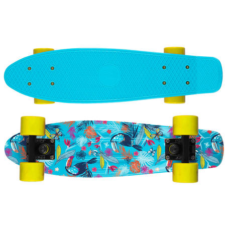 Deskorolka Print Fish Skateboards Tucans/Black/Yellow
