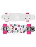 Deskorolka Fish Skateboards Print Macarons/White/Pink