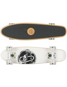 Deskorolka Cruiser Wood Fish Skateboards White Logo/White/White