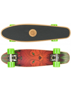 Deskorolka Cruiser Wood Fish Skateboards Red Fox/Silver/Green