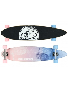 Deskorolka Longboard Fish Skateboards Kingfisher/Silver/Pink_Blue