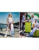 Deskorolka Longboard Fish Skateboards Kingfisher/Silver/Pink_Blue