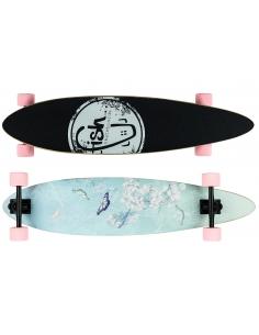 Deskorolka Longboard Fish Skateboards Butterfly/Black/Sum-Pink