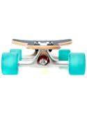 Deskorolka Longboard Fish Skateboards Drumfish/Silver/Transparent-Green