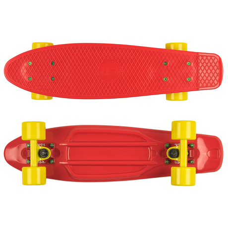 Deskorolka Fish Skateboards Red/Red-Yellow/Yellow