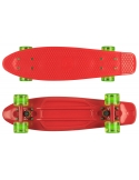 Deskorolka Fish Skateboards Red/Red/Transparent-Green