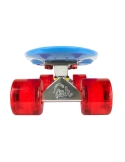 Deskorolka Fish Skateboards Blue/Silver/Transparent Red