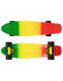 Deskorolka Fish Skateboards 3 Color Green_Yellow_Red/Black/Black