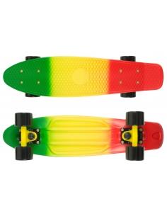 Deskorolka Fish Skateboards 3 Color Green_Yellow_Red/Black/Black