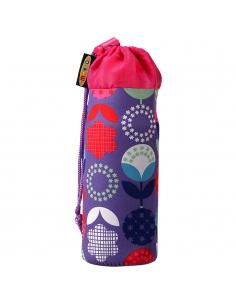 Pokrowiec Micro na butelkę lub bidon kwiatki floral dot fioletowy