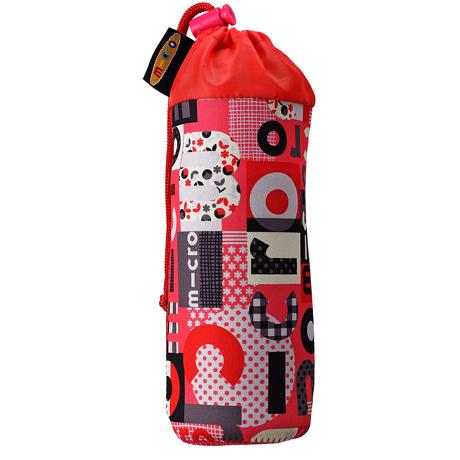 Pokrowiec Micro na butelkę lub bidon word różowy czerwony