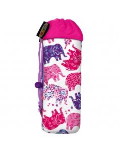 Pokrowiec Micro na butelkę lub bidon różowe słonie elephant