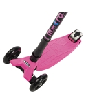 Hulajnoga Maxi Micro różowa składana kierownica foldable pink