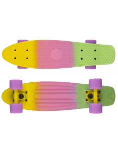 Deskorolka Fish Skateboards 3 Color Yellow-Purple-Blue/Yellow/Sum-Purple