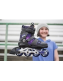 Rolki dziecięce K2 Charm BOA Alu Black/Purple