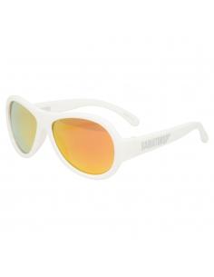 Okulary przeciwsłoneczne dla dzieci Babiators polaryzacja zwariowany biały żółte szkła