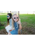 Okulary przeciwsłoneczne dla dzieci Babiators polaryzacja Princess Pink 0-2