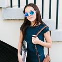 Okulary przeciwsłoneczne dla dzieci Babiators Aces Aviator Wicked White niebieskie szkła 6+