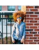 Okulary przeciwsłoneczne dla dzieci Babiators Aces Aviator Black Ops Black niebieskie szkła 6+