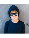 Okulary przeciwsłoneczne dla dzieci Babiators Aces Aviator Black Ops Black lustrzane szkła 6+