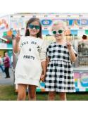 Okulary przeciwsłoneczne dla dzieci Babiators Aces Navigator Wicked White zielone szkla 6+