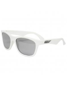 Okulary przeciwsłoneczne dla dzieci Babiators Aces Navigator Wicked White lustrzane szkła 6+