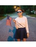 Okulary przeciwsłoneczne dla dzieci Babiators Aces Navigator Electric Blue lustrzane szkła 6+