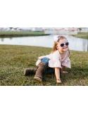 Okulary przeciwsłoneczne dla dzieci Babiators Original Aviator Princess Pink