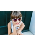 Okulary przeciwsłoneczne dla dzieci Babiators Original Navigator Pink Ice 0-2