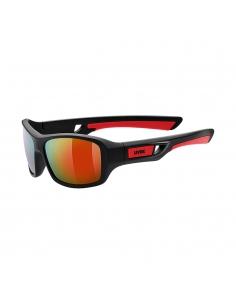 Okulary przeciwsłoneczne dla dzieci Uvex Sportstyle 505 Black Mat Red