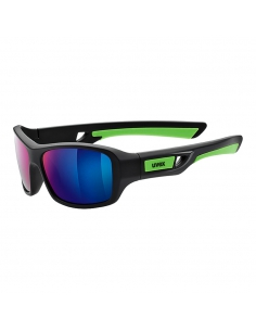 Okulary przeciwsłoneczne dla dzieci Uvex Sportstyle 505 Black Mat Green
