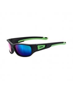 Okulary przeciwsłoneczne dla dzieci Uvex Sportstyle 506 Black Mat Green