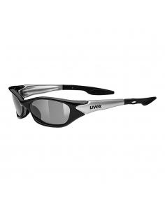 Okulary przeciwsłoneczne dla dzieci Uvex Sporty Black Silver