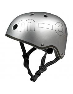 Kask Micro srebny metalik