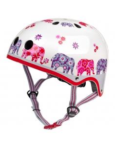 Kask Micro różowe słonie elephant