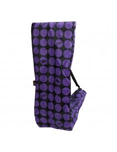 Torba do przenoszenia hulajnóg trójkołowych Micro w fioletowe kropki