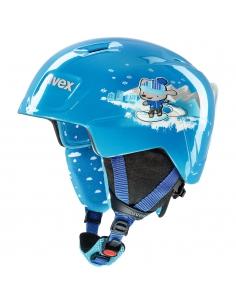 Kask narciarski Uvex Manic Blue Snow Dog