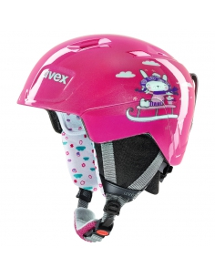 Kask narciarski Uvex Manic Pink Snow Bunny