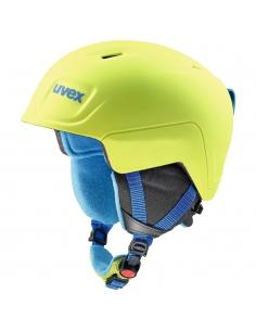 Kask narciarski Uvex Manic Pro Lime/Blue Met Mat